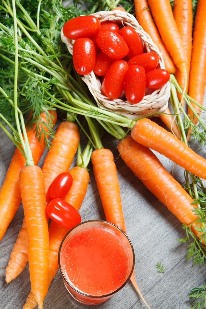 benefits of carrots and tomato