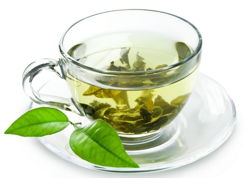 Warm water with Green tea