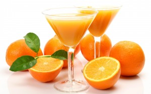 orange juice after high fat meals