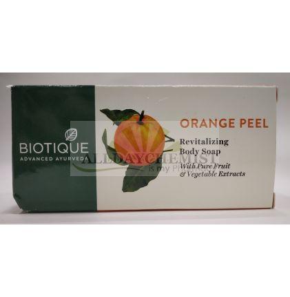 Biotique Orange Peel Revitalizing Body Soap With Pure Fruit 150 gm