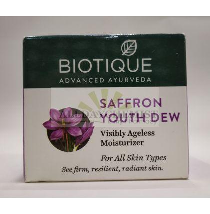 Biotique Saffron Youth Dew Visibly Ageless Moisturizer For All Skin Types 50 gm