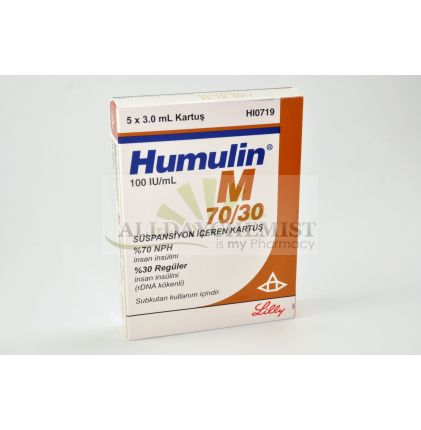 Humulin M 70% / 30% 100IU 5x3ml